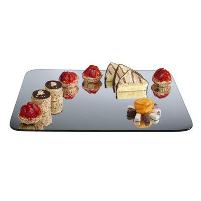 Cal-Mil PT450 Rectangle Mirror Tray, 0.25'' Height, 12.5'' Width, 20.5'' Length by Cal Mil