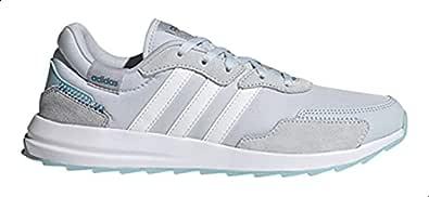Adidas Retrorun Leopard-Pattern Side-Stripe Low-Top Lace-Up Running Sneakers for Women