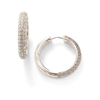 Thomas Earrings Sabo (Thomas Sabo Hinged Hoop Earrings with White Zirconia)