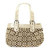 Women's Soho Pleated Signature Business SV/Khaki/Putty Jacquard Tote: SV/Khaki/Putty Tote