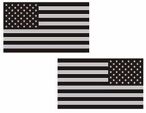 MAGNET Black and Gray USA FLAG Magnetic Sticker muted colors american decal ...