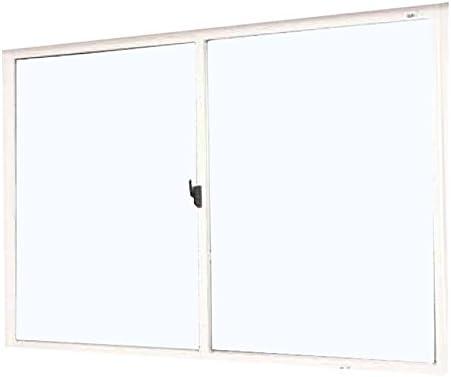 返品・キャンセル不可品 メーカー受注生産品 2枚建 引違い窓 ポリカ 樹脂板 簡単すっきり内窓 楽窓 楽窓2 SEIKI セイキ販売 W800mm×H750mmまでサイズオーダー ガラス-型(4mm) 外ホワイト・内ホワイト