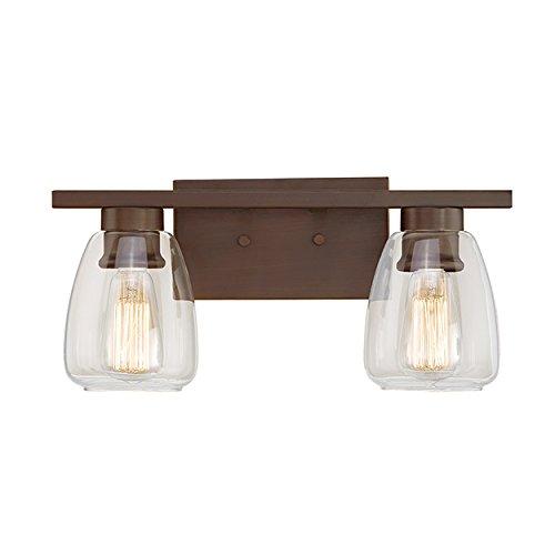 Millennium Lighting 362-RBZ Millennium:Two Light Vanity 2-Light Bath Vanity in Rubbed Bronze - Series 2 Light Vanity Lamp