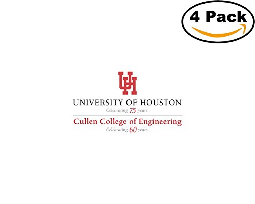 Vinyl Cullen (Cullen College of Engineering 4 Stickers 4X4 inches Car Bumper Window Sticker Decal)