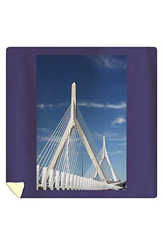Engineering Micro Bridge (Lantern Press Zakim Bridge Boston Massachusetts A-91116 (88x88 Queen Microfiber Duvet Cover))