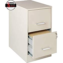 "Lorell Office Dimensions 22"" Deep 2 Drawer Letter-Sized Metal File Cabinet, Stone (16870)"