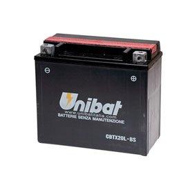Unibat Maintenance-Free Battery with Acid CBTX20L-BS for Harley-Davidson Softail Heritage Springer FLSTS 1997-2003