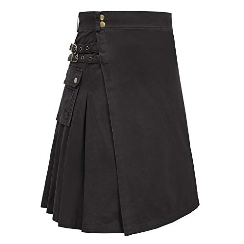 SCARLET DARKNESS Men's Black Sports Outdoor Highlander Sport Utility Kilt (Black, L) for $<!--$36.99-->