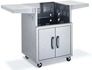 "product image for Broilmaster BSACT34 34"" SS Cart w/2 Doors and 2 Fold-Down Side Shelves"