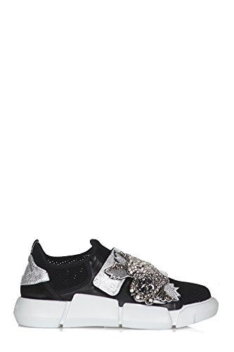 Elena Iachi Shoes - 310409 - Black/Silver Nero/Argento how much for sale VHbDUS