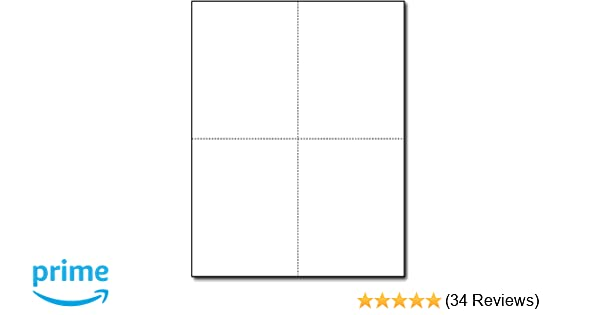 Amazon Com Blank Postcard Paper 4up Style Thick 80lb Cover