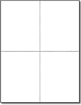 Heavyweight Blank Postcard Paper - 250 Sheets/1000 Postcards - Desktop Publishing Supplies, Inc.™ Brand