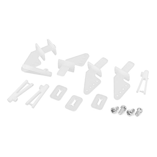 4 Set of White Nylon 4Holes Control Horns for RC Model Toy Plane Car