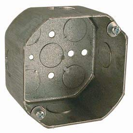 Hubbell 165 Octagon Box 4'', 2-1/8'' Deep, 1/2'' Side Knockouts - Pkg Qty 50 (165)