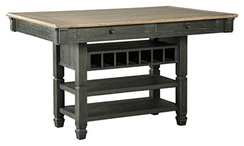 Ashley Furniture Signature Design – Tyler Creek Counter Height Dining Room Table – Black Gray