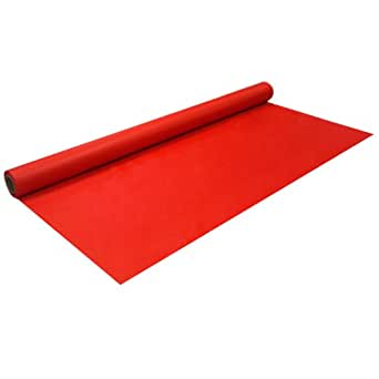 """Party Essentials 4010 Heavy Duty Banquet Roll Plastic Tablecover, 100' Length x 40"""" Width, Red (Case of 4)"""