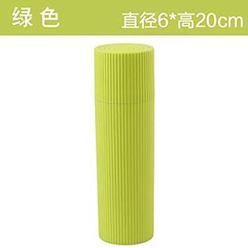 Funda de plástico para brazalete de boca y cepillo de dientes de viaje, color verde: Amazon.es: Hogar