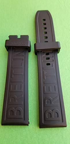 24 MM Rubber Watch Band Strap, FIT BREITLING and Other 24mm Watches