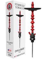 "STARBUZZ CHALLENGER 28"" HOOKAH STEM SET: This shisha pipe is made in America. These Hookahs are sold only as a stem and tray set. Starbuzz narguile pipes have a 5 year limited warranty (Red/Grey) by Starbuzz USA Made Hookahs"