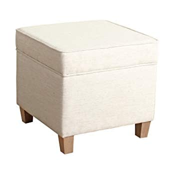 Amazon Com Cole Classics Square Storage Ottoman Wood Leg