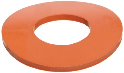 Silicone Flange Gasket, Ring, Red, Fits Class 150 Flange, 1/8
