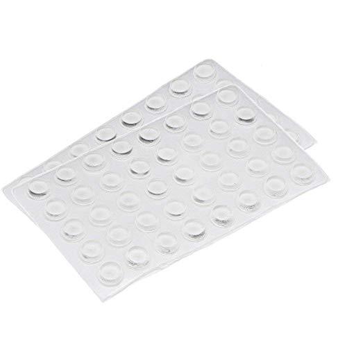 Rocutus 80pcs Clear Adhesive Silicone Rubber Cabinet Door Pad Bumper Stop Damper Cushion - Door Stop Cabinet