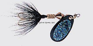 Wordens Sonic Rooster Tail Lure, 1/16-Ounce, Glitter Black ()