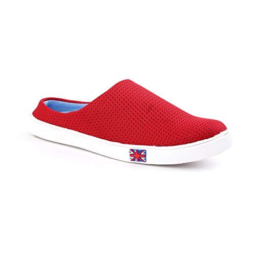77d7c69f606f FOX HUNT Casual Denim Sneaker Shoes Men s Boys Latest (Red) All Shoes - 10