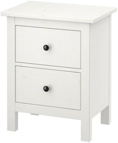 Ikea HEMNES - Cómoda de 2 cajones, Mancha Blanca - 54x66 cm ...