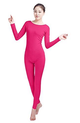 ONCEFIRST Adult Lycra Spandex One Piece Unitard Full Bodysuit Costume Fuchsia M