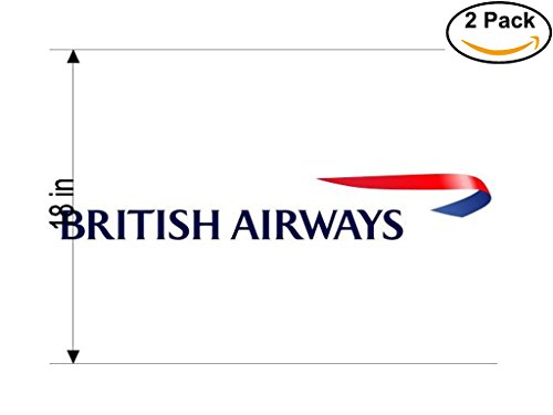 British Airways Airlines Airplane Sticker Decal 2 Stickers Huge 18 Inches