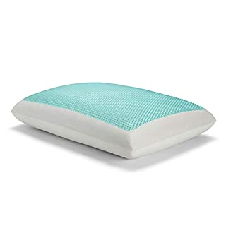 Sealy Essentials Memory Foam Gel Cooling Pillows, White,Standard/Queen