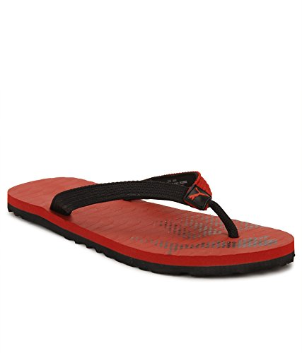 a4098938510f Puma Unisex Miami Fashion II Idp Black and High Risk Red Flip Flops (10)
