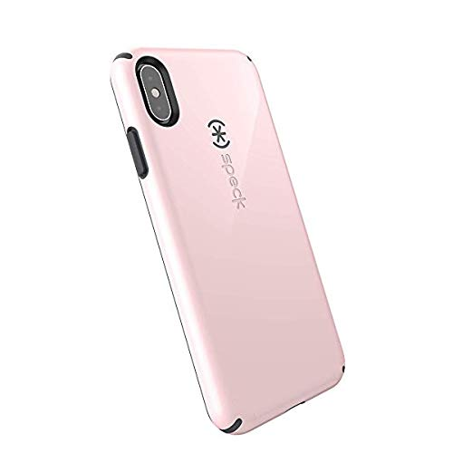Speck Products CandyShell iPhone Xs/iPhone X Case, Quartz Pink/Slate Grey