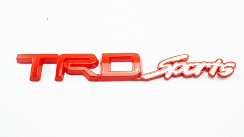 3D TRD SPORT Red Plastic Logo Emblem Sticker Decal Badge Trunk For Toyota