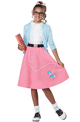 - 50'S Poodle Skirt Girls Costume Pink