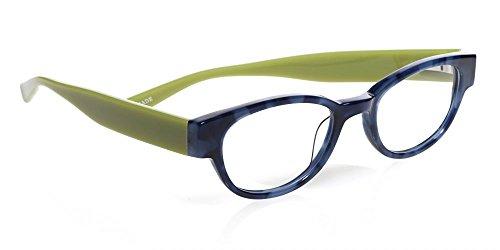 Eyebobs 2258 'Rita Book' Designer Reading Glasses in Blue Denim & Green (10) - Denim Glasses