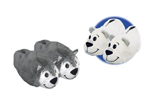 6d51aba9197 Flipazoo AS Seen On TV Slippers Polar Bear Transforming To Husky - Two In  One Warm