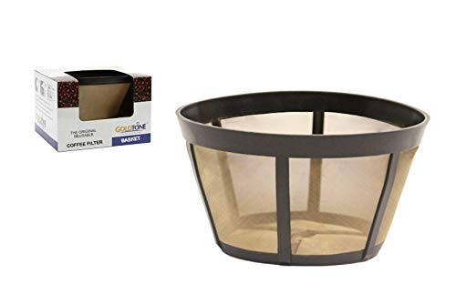 GoldTone Brand Reusable Coffee Filter fits Bunn Coffee Maker and Brewer. Replaces your Bunn Coffee Filter 10 Cup Basket and Bunn Permanent Coffee Filter (1)