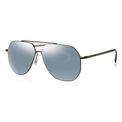 BOLON BL7000 Men's Nylon White Polarized HD Mirror Lens, Aviator Shpae Metal - Bolon Sunglasses