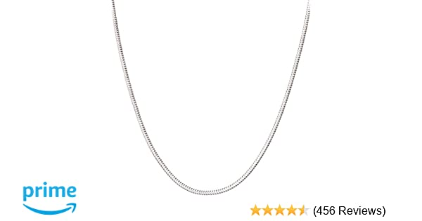 f0a6eafa8 925 Sterling Silver Italian 1mm,1.2mm, 3mm Snake Chain Crafted Necklace  Thin Lightweight Strong - Lobster Claw Clasp With Extra Clasp