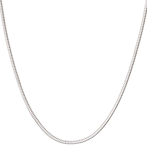 Charm 18 Sterling Chain - 925 Sterling Silver Italian 1mm Magic Snake Chain Crafted Necklace Thin Lightweight Strong - Lobster Claw Clasp With Extra Clasp (sterling-silver, 18 Inches)