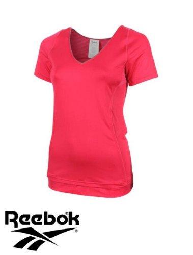 Reebok t-shirt de sport pour femme top play dry heroine s1 coupe slim (rose)