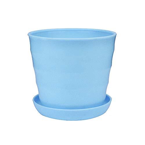 - Fencodi Colourful Mini Plastic Flower Pot Succulent Plant Flowerpot Home Office Decor Blue
