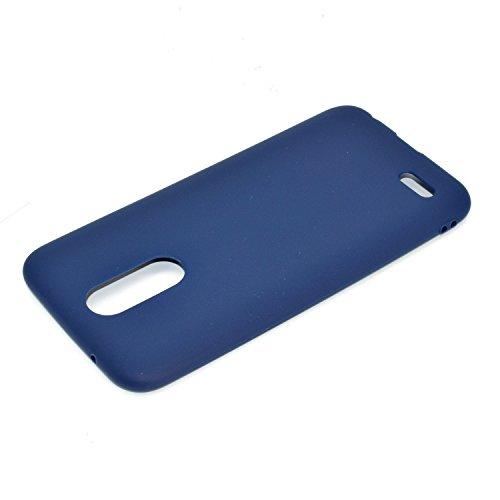 Funda ultrafina de TPU suave con textura para LG K8 (2017) ( Color : Pink ) Blue