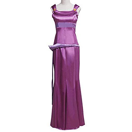 Women Purple Princess Dress for Megara Cosplay Costume Fancy Ball Gown Dress Halloween -