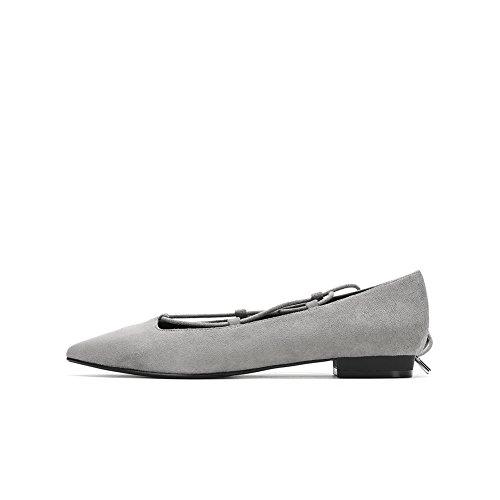 Moda B de asakuchi puntiagudos zapatos zapato bajo gamuza vestir el de rvTwqWxpr