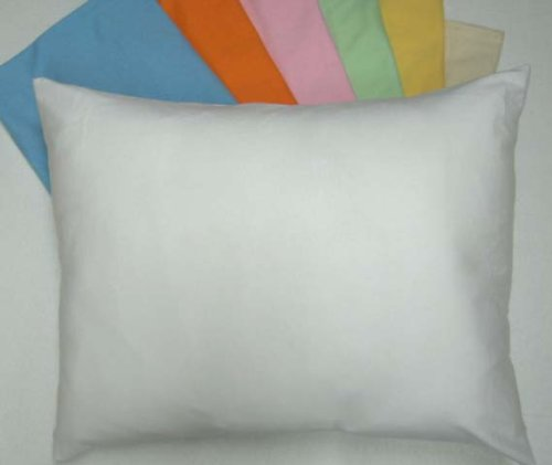 SheetWorld Comfy Travel Pillow Case - 100% Soft Cotton Jersey Knit - Ivory - Made In USA