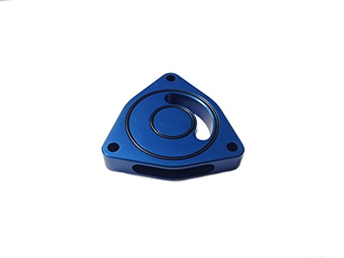Torque Solution Blow Off BOV Sound Plate (Blue): Hyundai Sonata 2.0T (Blue Hyundai Sonata)