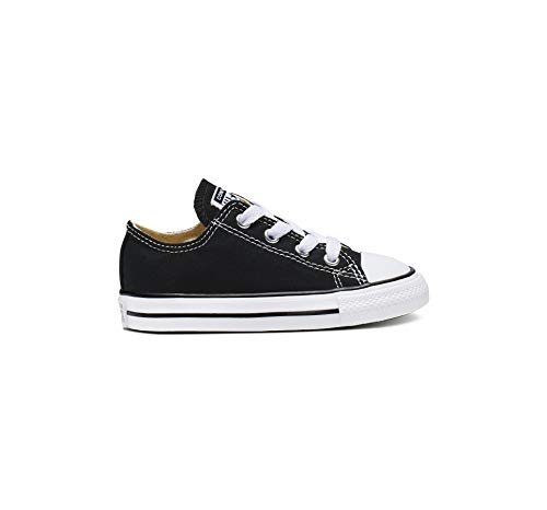 Converse unisex-child Chuck Taylor All Star  Low Top Sneaker, black, 8 M US -